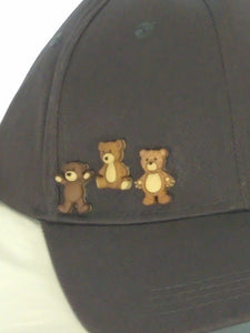 ERMA-  Gray W/Brown Bears Baseball Cap