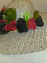 PATRICIA-  Red & Black Rose Dress Hat
