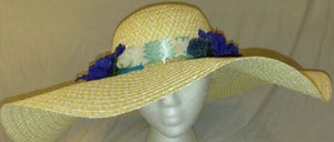 HELENA- - Navy Blue & Light Blue Hat