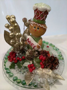 CHRISTMAS  GINGER -Lady Noel Center Piece