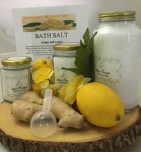 GINGER & LEMON- Large Jar Bath Salt