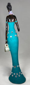 NISSI - Teal Dressed African Lady