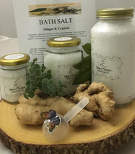 GINGER & CYPRESS- Large Jar Bath Salt