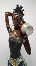 ORI- Lady Statue Black and Green Dress