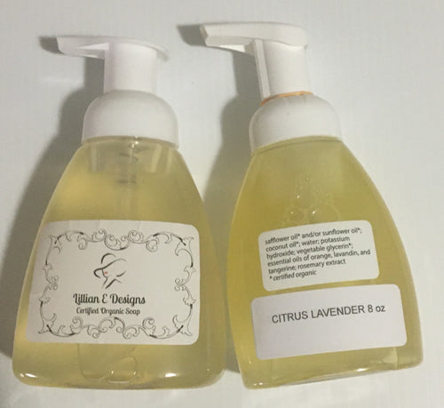 CITRUS LAVENDER - 8oz Foaming Liquid Soap