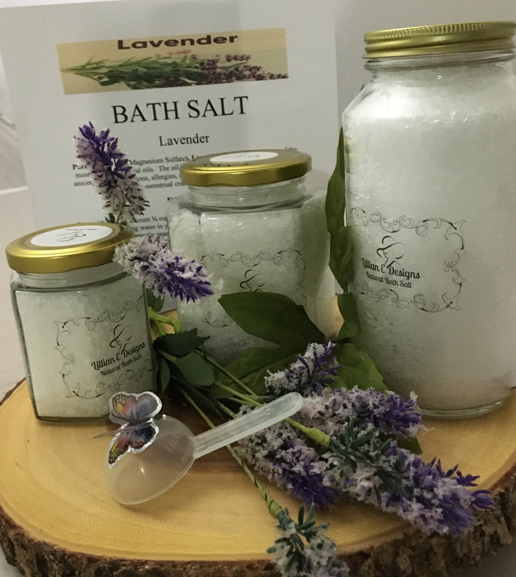 LAVENDER- Large Jar Bath Salt