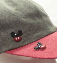 STORM-  Black & Red Mickey Button Baseball Cap