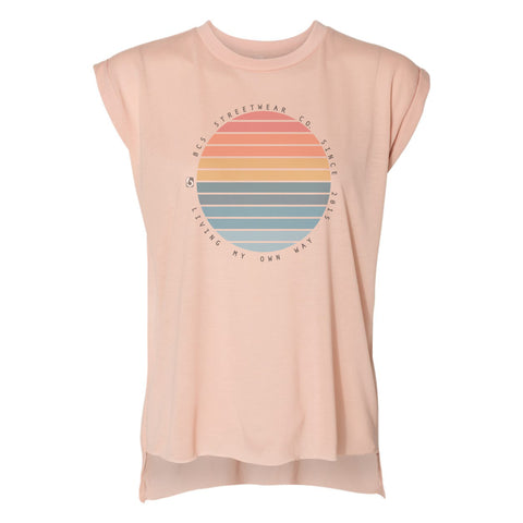 Sunrise Sleeve less T-shirt