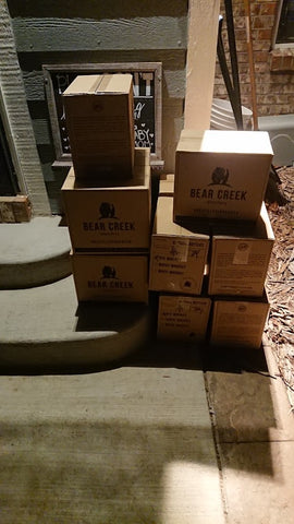 Boxes of Bottled Rye Whiskey from Bear Creek Distillery