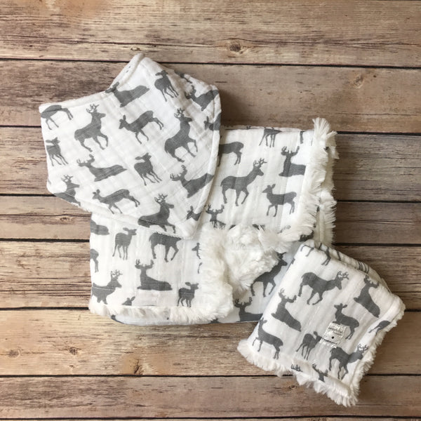 Bucks Gauze Bib - Snuggle Up Buttercups