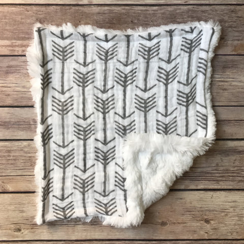 Arrow Gauze Mini Snuggle Blanket - Snuggle Up Buttercups