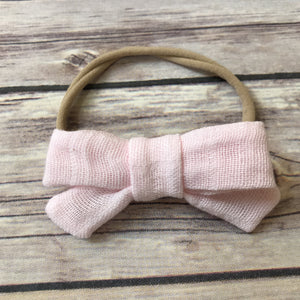 School Girl Fabric Bow Headband {Multiple Colors}