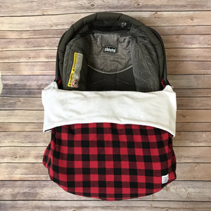 Snuggle Baby No Slip Stroller Blanket in Buffalo Plaid Cotton
