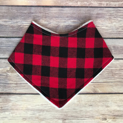 Buffalo Plaid Bib - Snuggle Up Buttercups