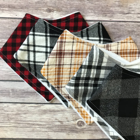 Plaid Bib Sets {Multiple Sets Available} - Snuggle Up Buttercups
