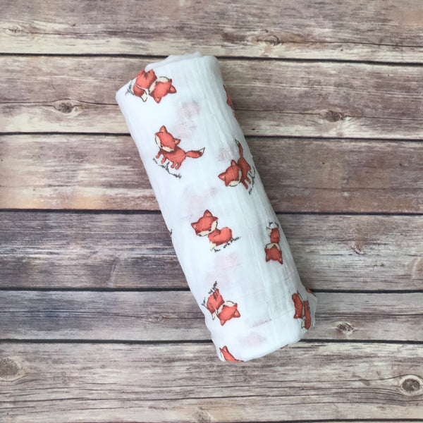 Fox Swaddle Blanket - Snuggle Up Buttercups