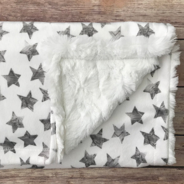 Grey Star Minky Infant Blanket - Snuggle Up Buttercups