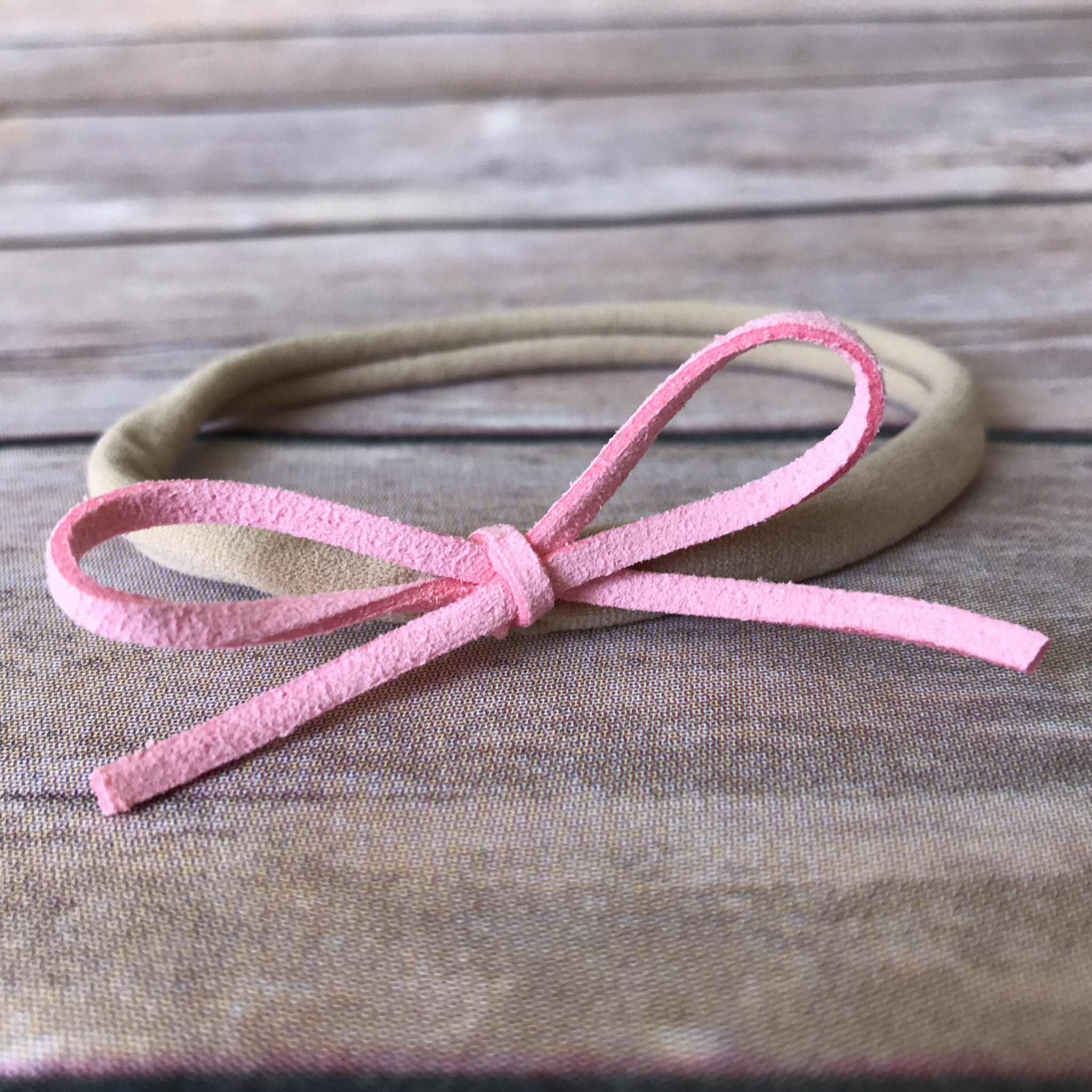 Petite Suede Bow Headband {Multiple Colors} - Snuggle Up Buttercups