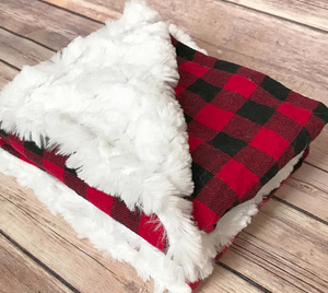 Buffalo Plaid Infant Blanket - Snuggle Up Buttercups
