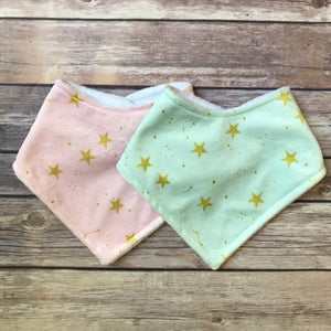 Constellation Minky Bib {Multiple Colors} - Snuggle Up Buttercups