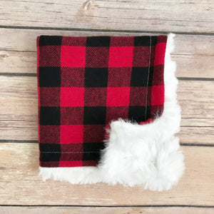 Buffalo Plaid Mini Snuggle Blanket - Snuggle Up Buttercups