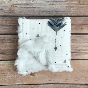 Feathered Arrow Gauze Mini Snuggle Blanket {multiple colors} - Snuggle Up Buttercups