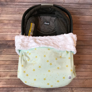 Snuggle Baby No Slip Stroller Blanket in Star Minky {multiple colors}