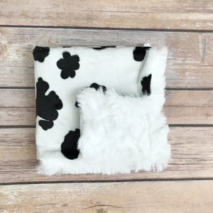 Cow Minky Mini Snuggle Blanket - Snuggle Up Buttercups