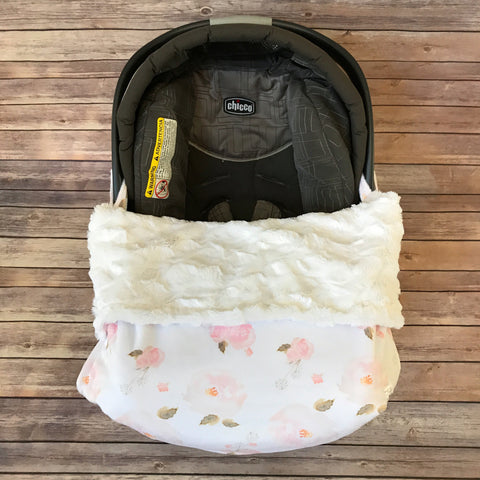 Snuggle Baby No Slip Stroller Blanket {choose from all minky prints} - Snuggle Up Buttercups
