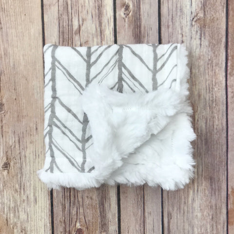Herringbone Gauze Mini Snuggle Blanket - Snuggle Up Buttercups