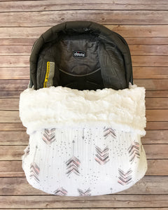 Snuggle Baby No Slip Stroller Blanket in Feathered Arrow Gauze {multiple colors}