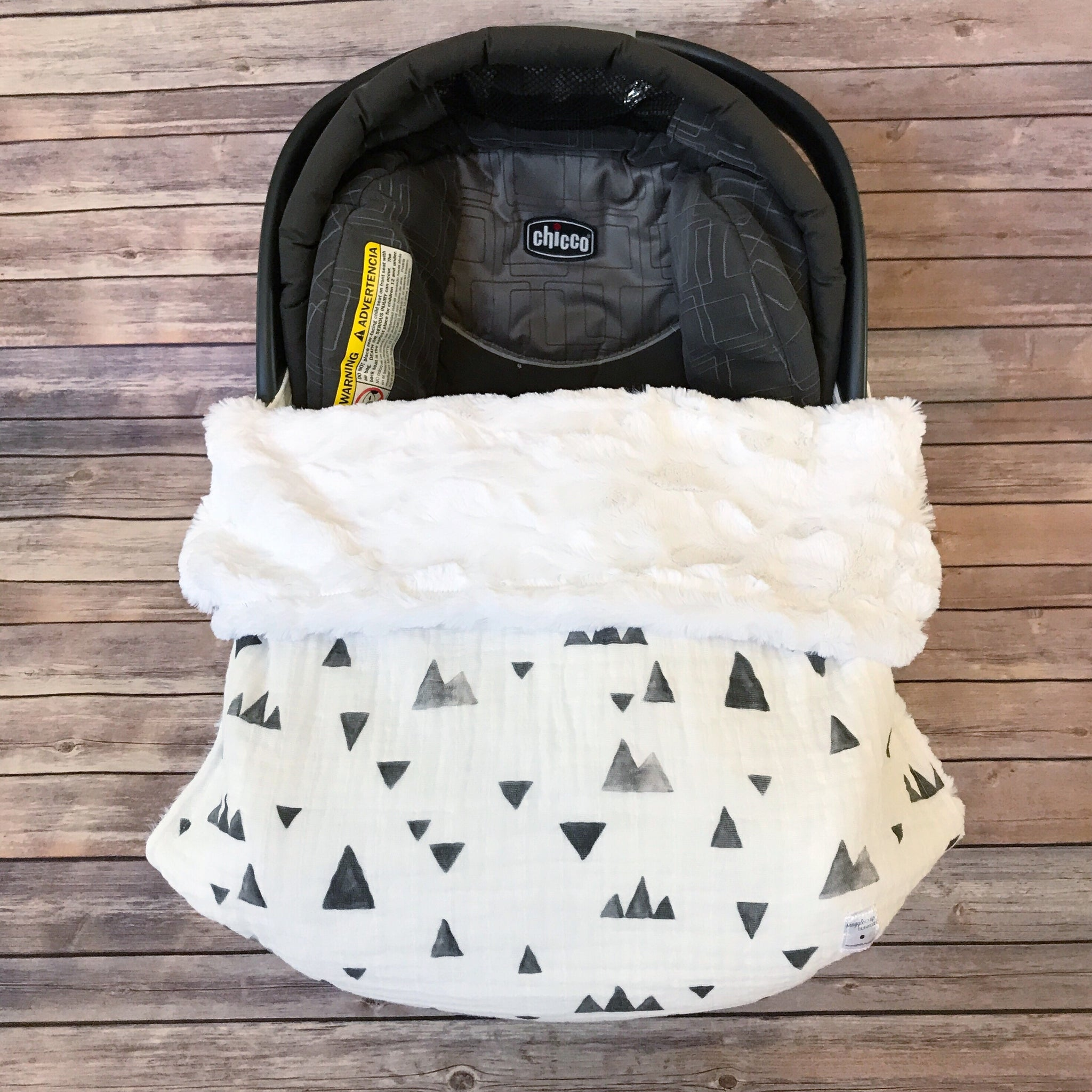 Snuggle Baby No Slip Stroller Blanket in Grey Mountain Gauze - Snuggle Up Buttercups
