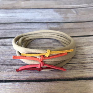 Harvest Set of 4 Petite Suede Knot Headbands