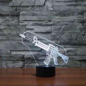 WEAPON 3D LAMP 8 changeable colors