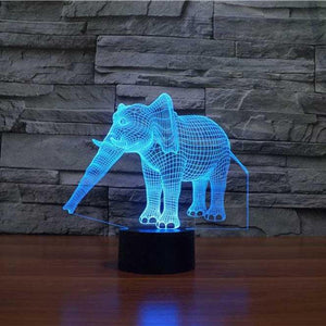 Elephant 3D LAMP 8 changeable colors