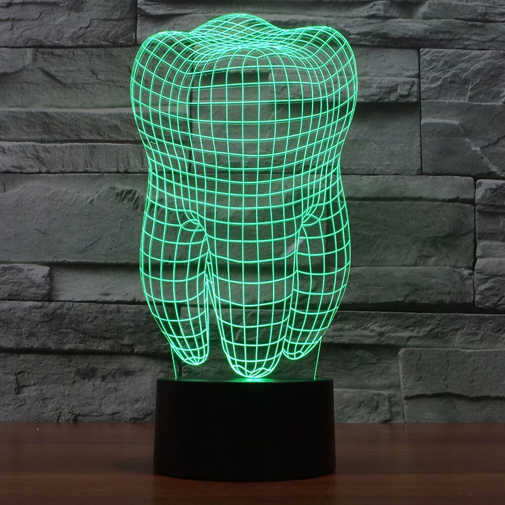 Tooth  3D LAMP 8 changeable colors
