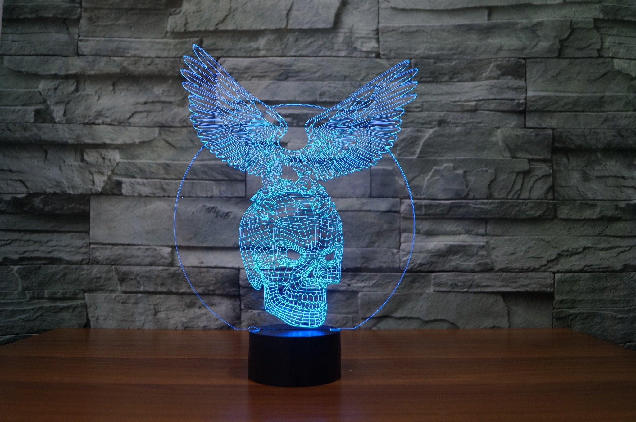 EAGLE SKULL  3D LAMP 8 changeable colors