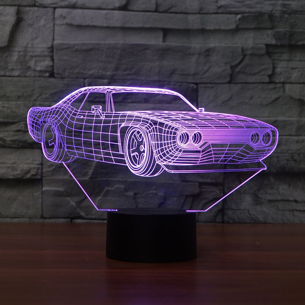 CHEVROLET CAMARO 3D LAMP 8 changeable colors