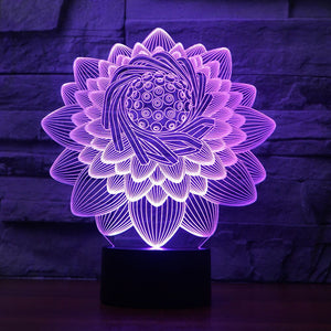 FLORAL  3D LAMP 8 changeable colors