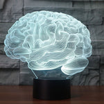BRAIN  3D LAMP 8 changeable colors
