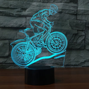 BIKERIDER 3D LAMP 8 CHANGEABLE COLORS