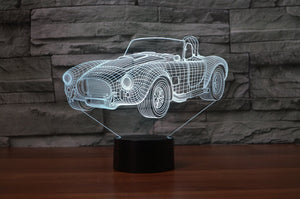 Shelby cobra 427c 1965 3D LAMP 8 changeable colors