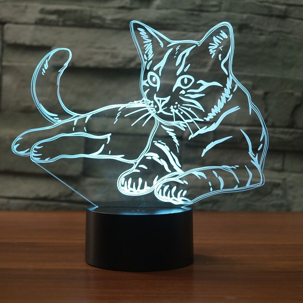 CAT 3D LAMP 8 CHANGEABLE COLORS