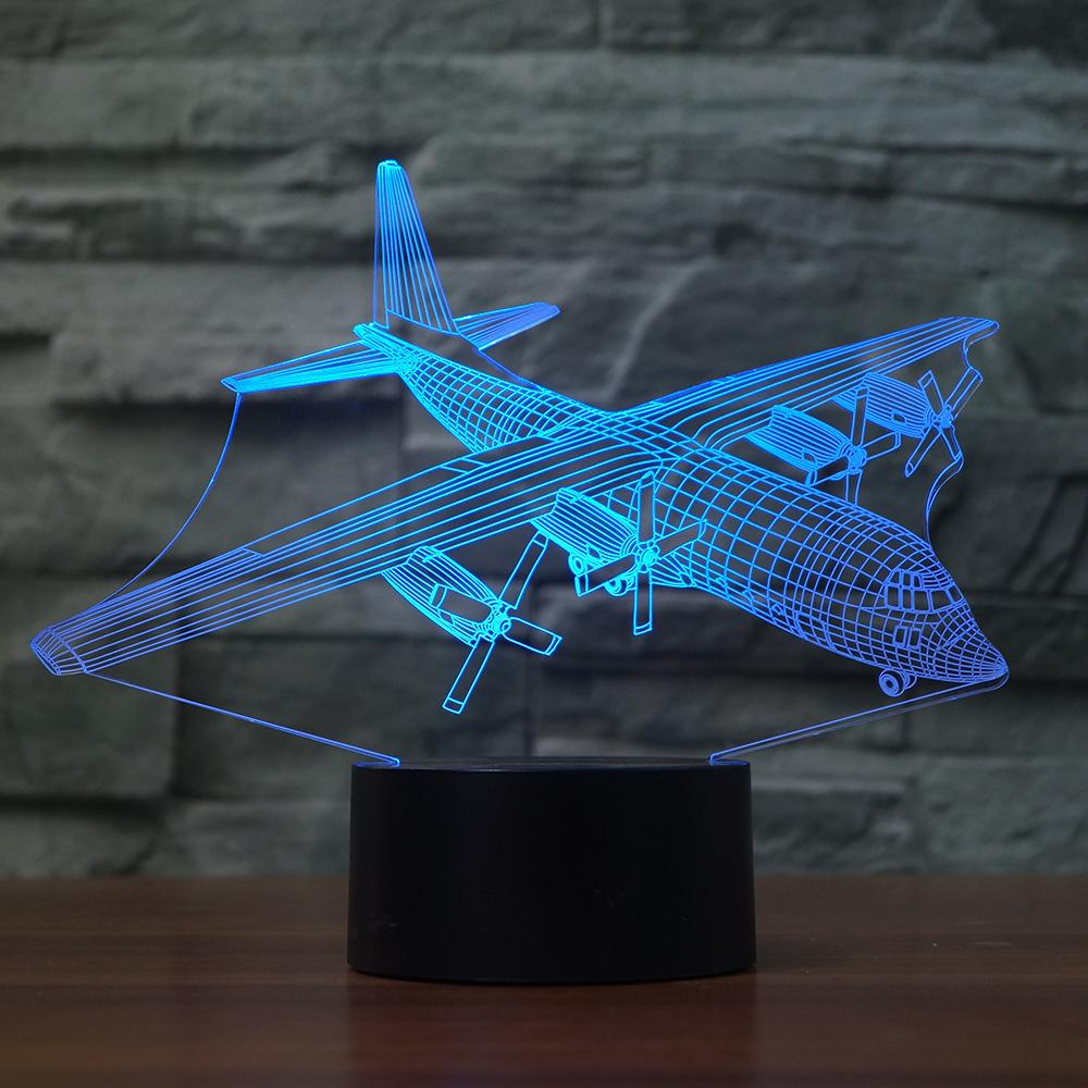 Lockheed C-130 Hercules 3D LAMP 8 CHANGEABLE COLORS
