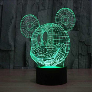 MICKEY MOUSE  3D LAMP 8 changeable colors