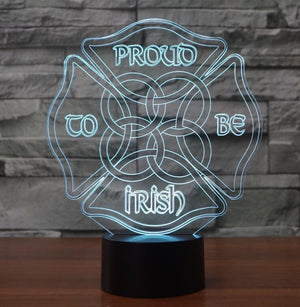 PROUD IRISH 3D LAMP