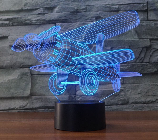 AIRPLANE 3D LAMP 8 changeable colors