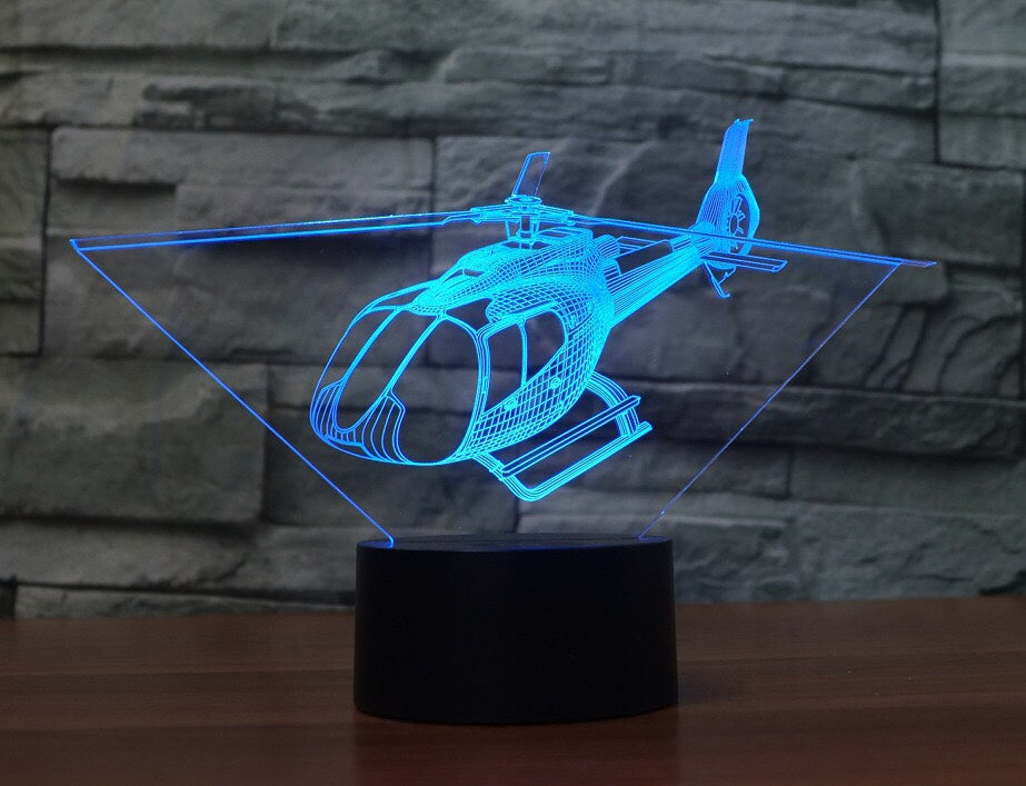 Eurocopter C130 HELICOPTER 3D LAMP 8 changeable colors