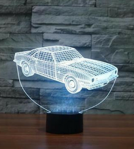 OLD MUSCLE CAR 3D LAMP 8 changeable colors