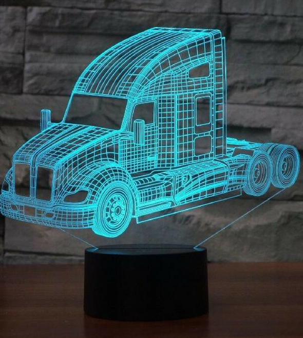 KENWORTH 3D lamp 8 CHANGEABLE COLORS